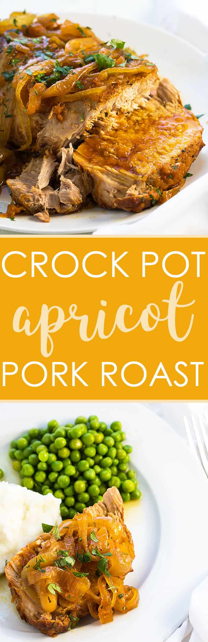 Crock Pot Apricot Pork Roast - Just 15 minutes prep time is needed for the most incredibly tender and flavorful pork roast!
