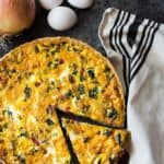 Kale Quiche - A vegetarian quiche chock full of kale, roasted red peppers, mushrooms and onions.