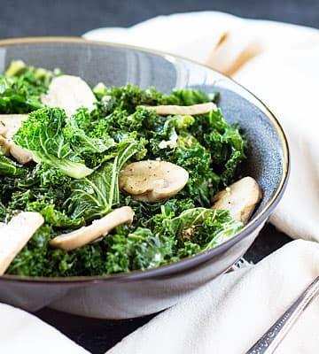 Sautéed Kale and Mushrooms