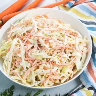 Carolina Coleslaw - Creamy, sweet and tangy coleslaw that is a perfect side dish for any meal!