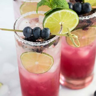 This refreshing, sweet and tart Blueberry Mojito is always a welcomed cocktail at any gathering!