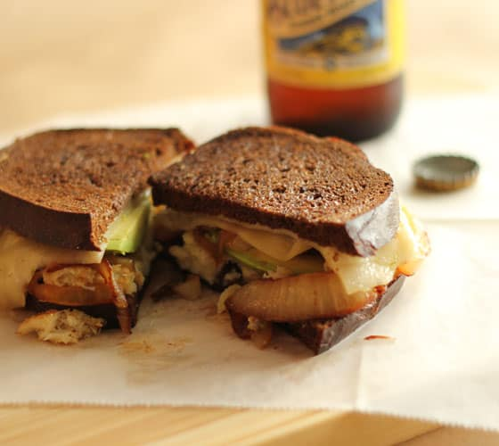 Crab & Avocado Grilled Cheese Sandwich