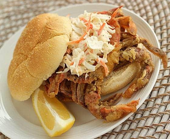 Fried Soft Shell Crab Sandwich