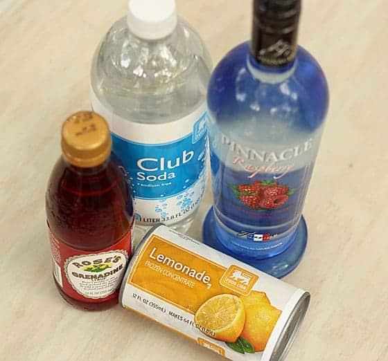 Raspberry Lemonade Cocktail Ingredients