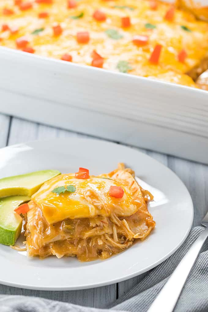 Mexican Chicken Casserole - An easy and delicious Mexican-inspired casserole using leftover shredded chicken!