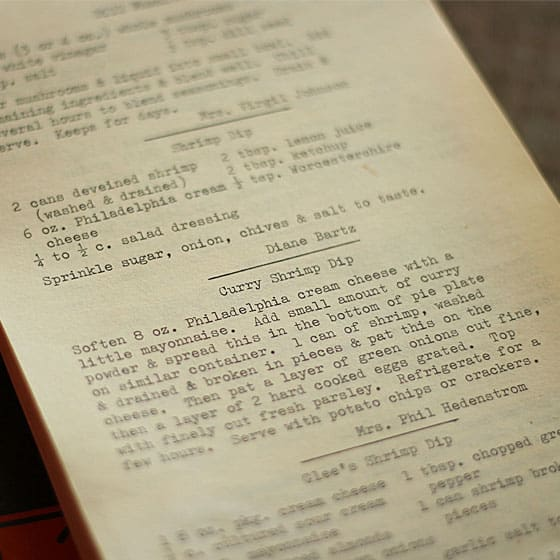 An inner page of an old cookbook.