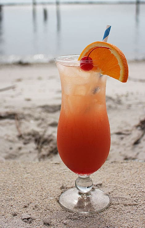 Hurricane Cocktail via www.TheBlondCook.com