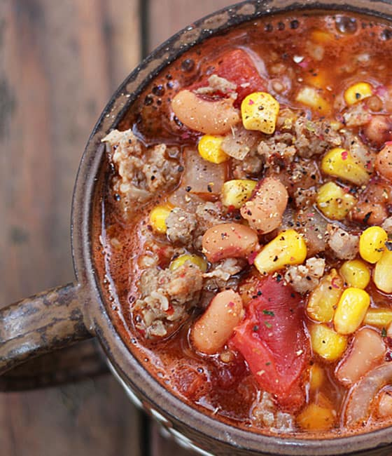 Black-Eyed Pea & Sausage Stew via https://theblondcook.com
