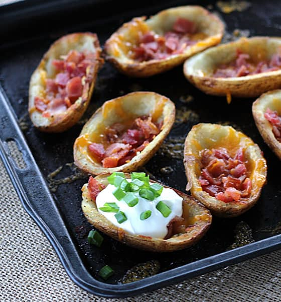 Old Bay Potato Skins via www.TheBlondCook.com