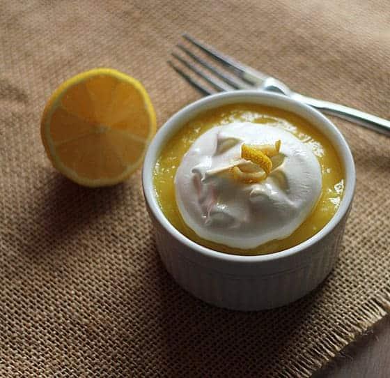 Microwave Lemon Meringue Cupcakes