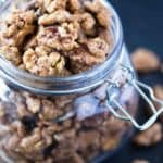 Sweet and Spicy Walnuts - Easy candied walnuts that are so sweet, spicy and savory!