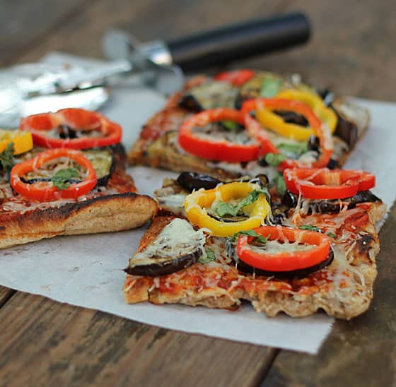 Grilled Eggplant Pizza
