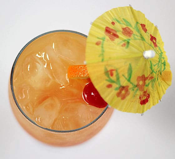 Malibu Summer Rose Cocktail