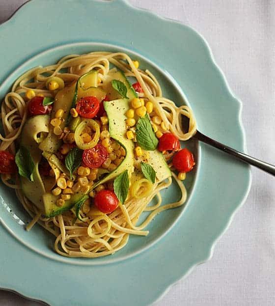 Linguine with Summer Vegetables