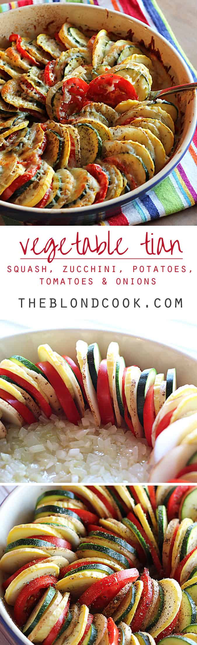 Vegetable Tian ~ Thinly sliced squash, zucchini, potatoes and tomatoes ...