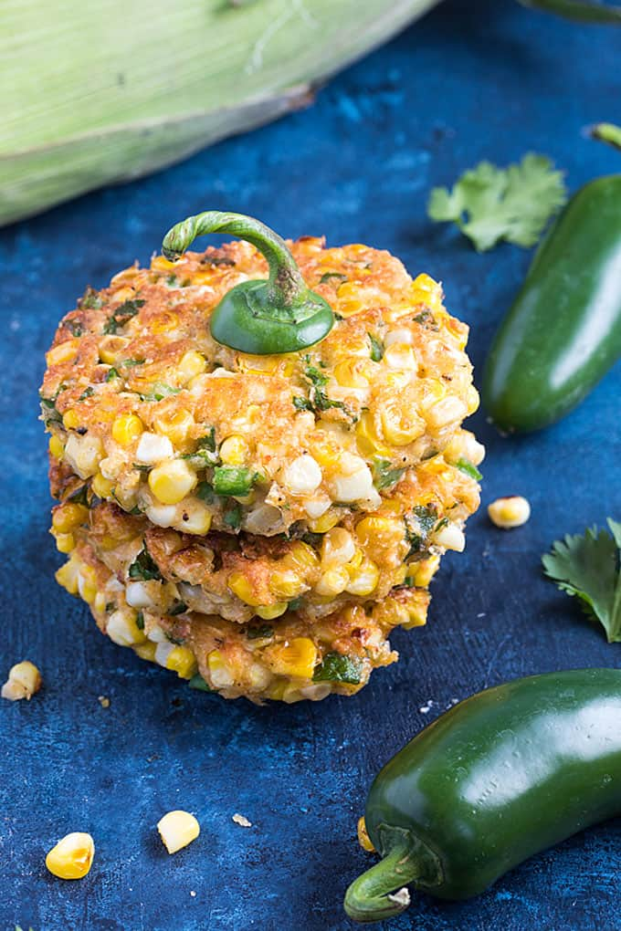 Jalapeño Corn Fritters - Flavor-packed, crispy corn fritters with chopped jalapeño and seasonings... always a welcomed side dish!
