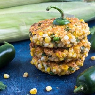 Jalapeno Corn Fritters - Flavor-packed, crispy corn fritters with chopped jalapeno and seasonings... always a welcomed side dish!