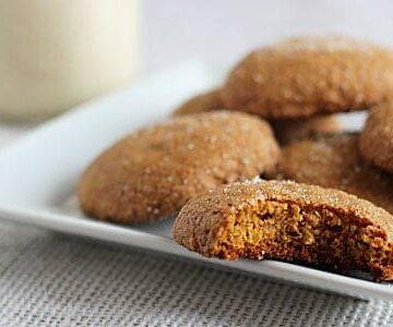 Kahlua Pumpkin Gingersnap Cookies
