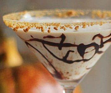 Chocolate Pumpkin Gingerbread Martini