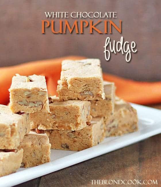White Chocolate Pumpkin Fudge
