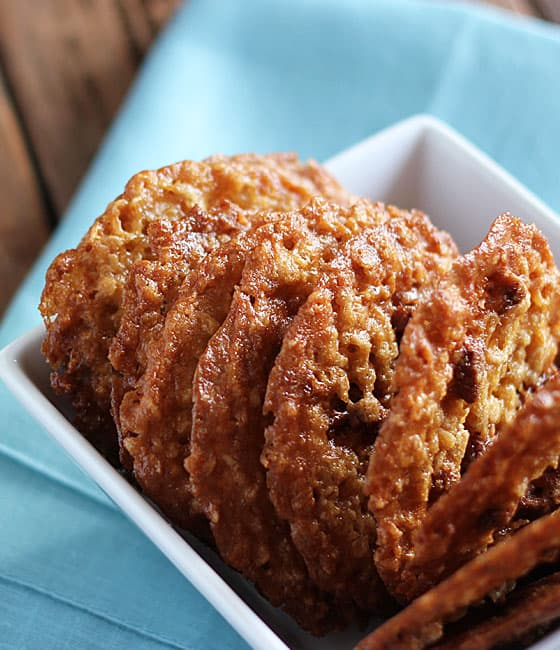 42. Oatmeal Lace Cookies | The Blond Cook