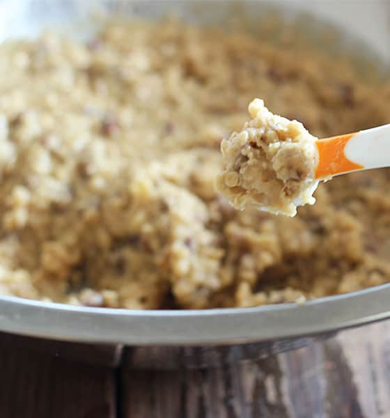 Oatmeal Lace cookie batter