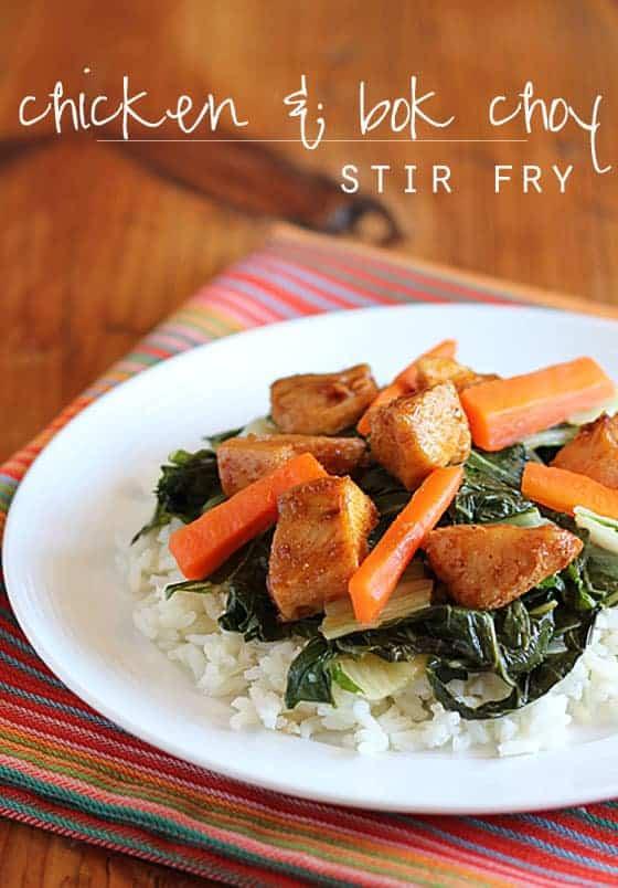 Chicken & Bok Choy Stir Fry