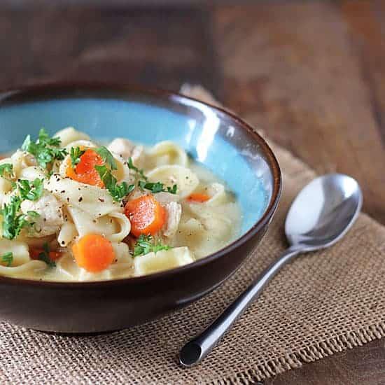 Chicken & Cheese Tortellini Soup