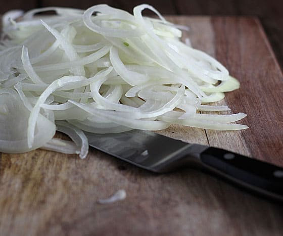 Onions for French Onion Toast