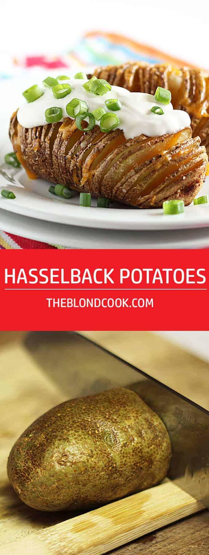 Hasselback Potatoes -- Crispy on the outside, tender on the inside!