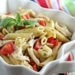 Caprese Chicken Pasta Salad – Quick, easy & healthy!