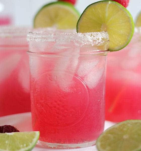 Raspberry Beer Margaritas
