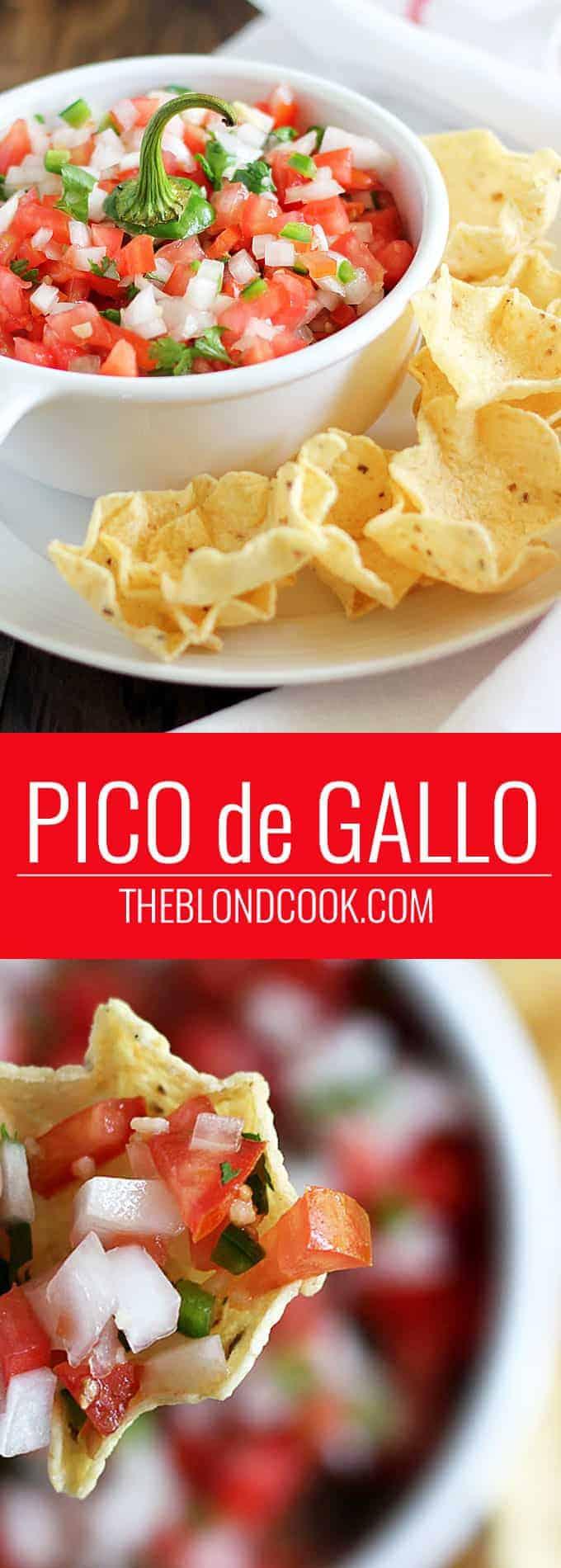 Pico de Gallo -- A healthy, and delicious salsa loaded with healthy veggies!