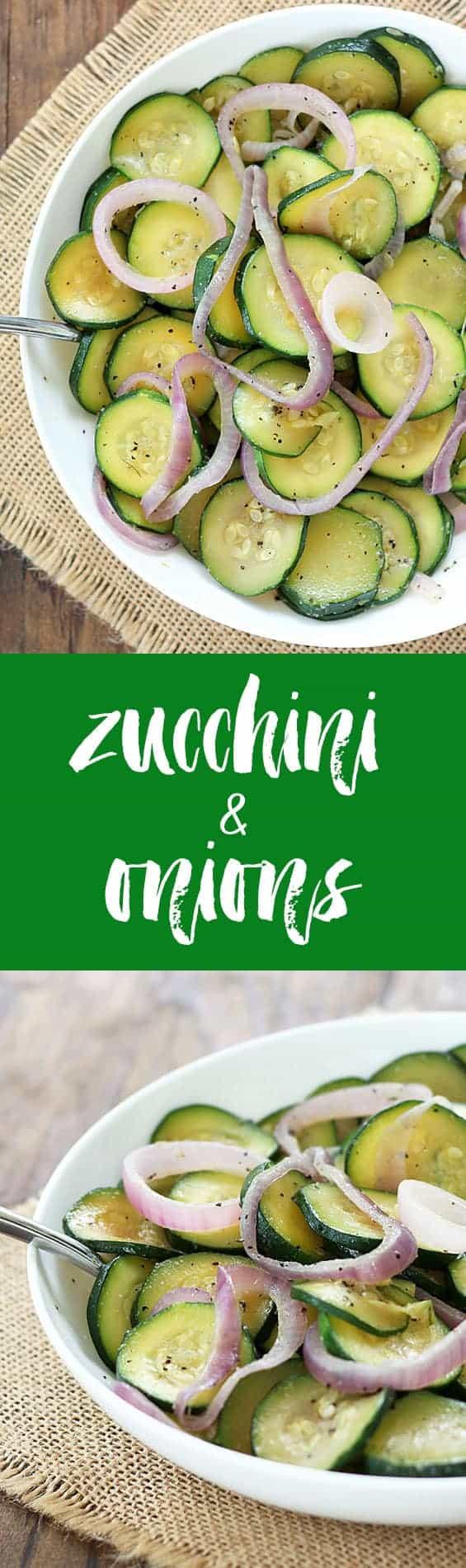 Zucchini & Onions | theblondcook.com