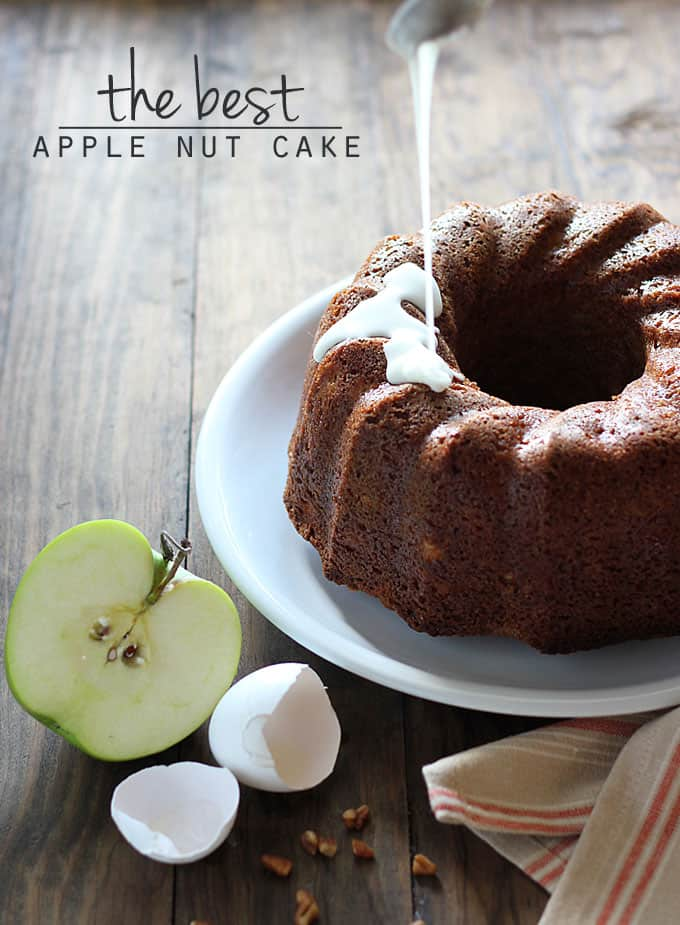 The Best Apple Nut Cake! Moist apple cake with pecans, coconut and spices.