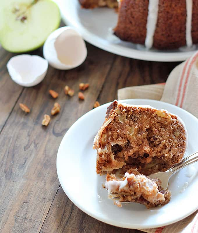 The Best Apple Nut Cake! Perfectly moist apple cake with pecans, coconut and spices.