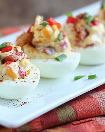 Pimento Cheese Deviled Eggs – A delicious southern twist on deviled eggs!
