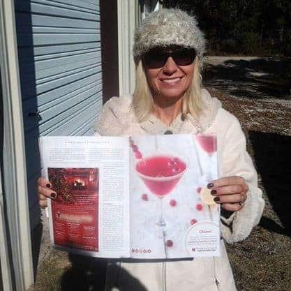 Cranberry Bourbon Martini in Our State Magazine