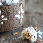Bourbon Coconut Date Balls ~ Crispy, chewy, sweet & salty... perfect holiday treat!