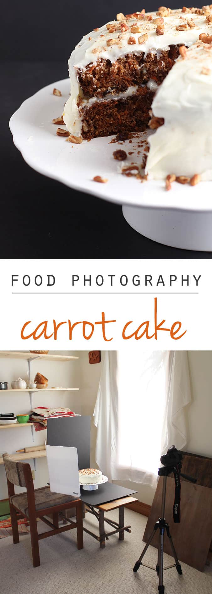 Food Photography:  Photographing Carrot Cake