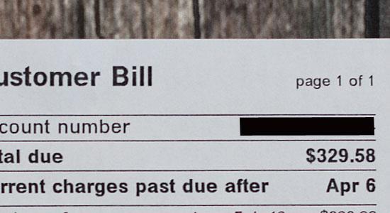Nice electric bill!