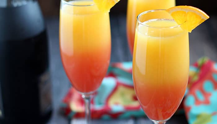 Tequila Sunrise Mimosa | The Blond Cook