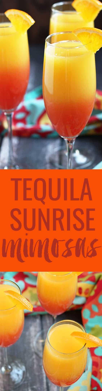 Tequila Sunrise Mimosas | theblondcook.com