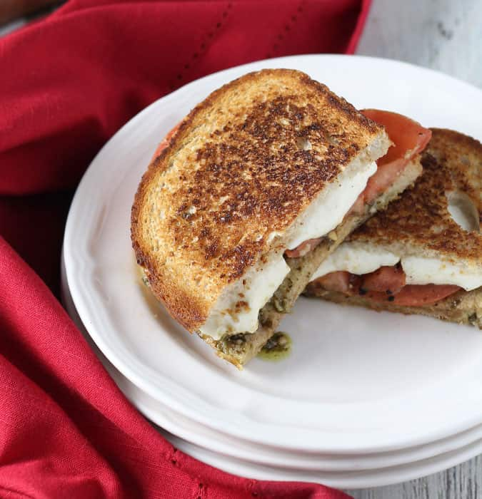 Pesto Caprese Grilled Cheese