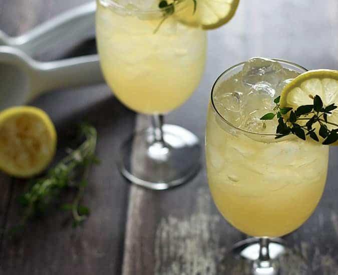 Whiskey Ginger Thyme Lemonade