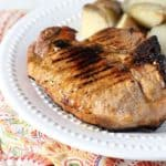 Grilled Pork Chops with Peach Marinade