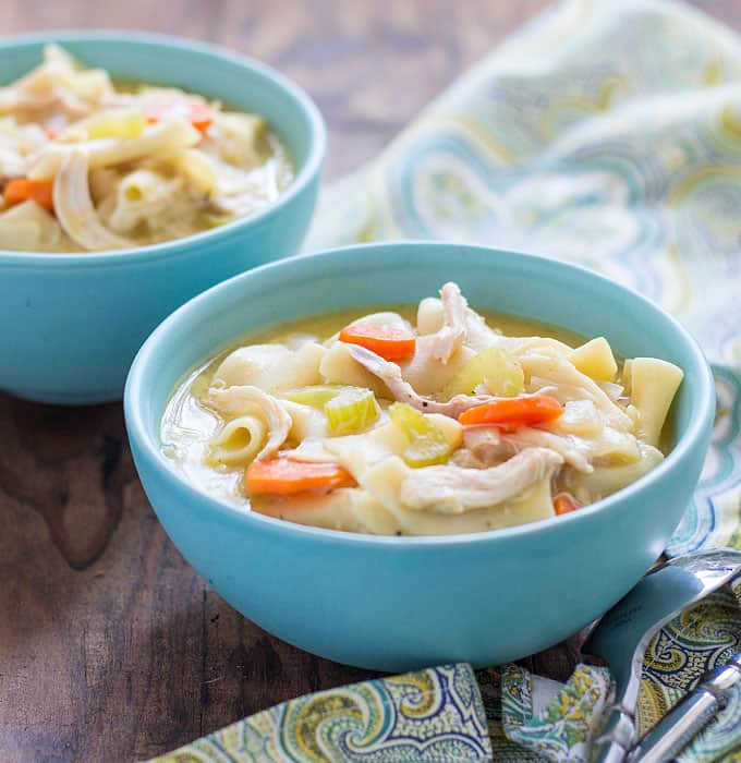 This EASY homemade Chicken Noodle Soup comes together in less than 30 minutes!