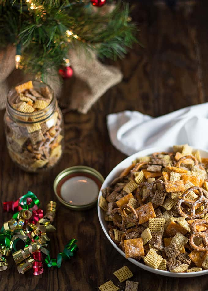 Cheesy Ranch Chex Mix - A simple, easy and delicious snack for holiday gatherings and gift giving!