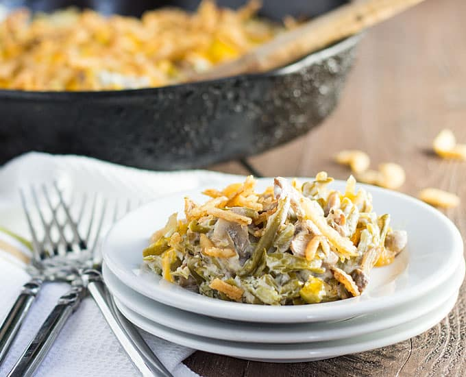 ... green beans, this green bean casserole is so easy to make... and doesn