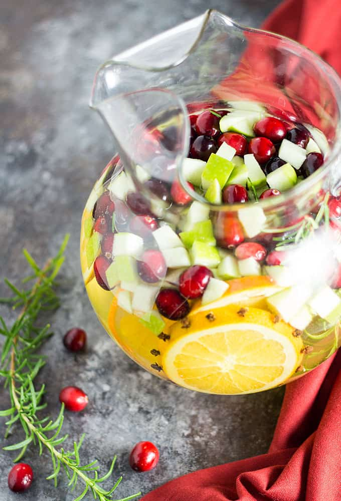 Holiday Sangria - Pinot grigio with fruits, herbs and spices.